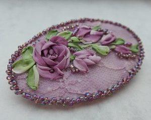 Make a Silk Ribbon Embroidery Brooch